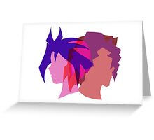 Arc V Ship Silhouette- Yuri/Dennis Greeting Card