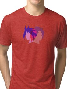 Arc V Ship Silhouette- Yuri/Dennis Tri-blend T-Shirt