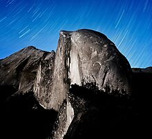 Stars trails over Half Dome by Alex Preiss