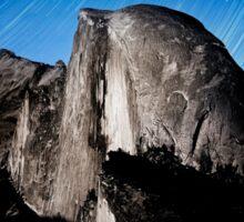 Stars trails over Half Dome Sticker