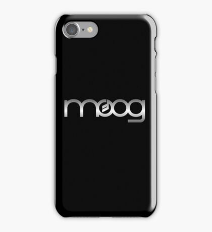 Moog  Synth Silver iPhone Case/Skin