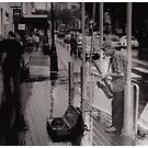 Busker on argyle street. by Matt kelly.