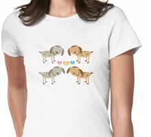 Dogs Friendship Womens Fitted T-Shirt