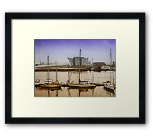 Golden hour at Titanic Belfast | Irish Landscape | Pictures Of Ireland Framed Print