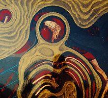 DEATH IN CISTERN 150cmX120cmX7cm by Aziz Ulas