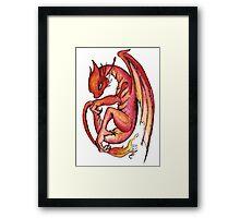 Dragon orange red yellow - I'm a dragon Framed Print