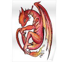 Dragon orange red yellow - I'm a dragon Poster