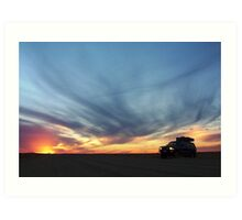 Touring on the Oodnadatta Track Art Print
