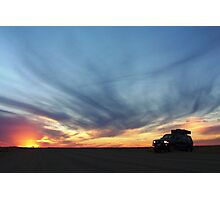 Touring on the Oodnadatta Track Photographic Print