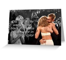 Screaming Color Greeting Card