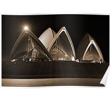 Sydney Opera House - from the forecourt Poster