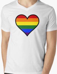 Homosexual Heart in Black Mens V-Neck T-Shirt