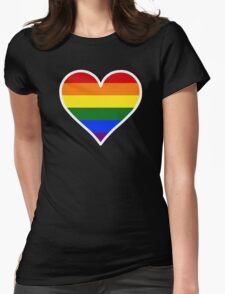 Homosexual Heart in White Womens Fitted T-Shirt