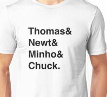 THOMAS, NEWT, MINHO AND CHUCK, The Maze Runner Unisex T-Shirt