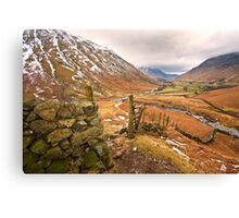 Wasdale valley on a cold winters morning Canvas Print