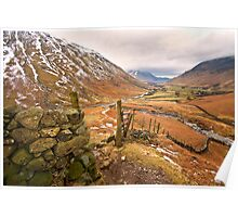Wasdale valley on a cold winters morning Poster