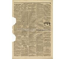 (PAGE 7) PORTLAND TRANSCRIPT, AUG.27, 1853 Photographic Print