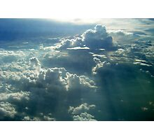 Sunrays over the Clouds Photographic Print
