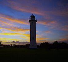 Night Warning - Yamba NSW by Specka
