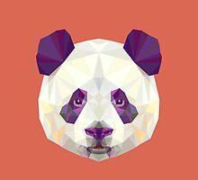 Geometric Panda by KingdomofArt