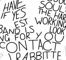 Jimmy's ad Sticker