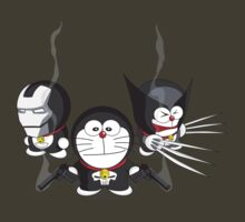 Doraemon Meets SuperHeroes by glitchgee