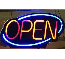 """Happy """"Open"""" Photographic Print"""