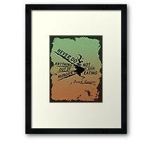 True Detective Out of Hunger white Framed Print