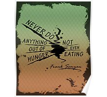 True Detective Out of Hunger white Poster