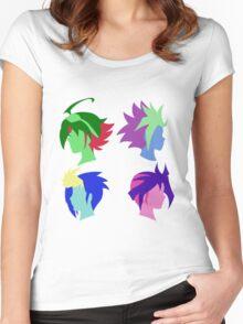 Arc V Ship Silhouette- Yuya/Yuto/Yugo/Yuri Women's Fitted Scoop T-Shirt