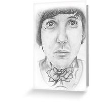 Oli Sykes Portrait Greeting Card