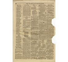 (PAGE 8) PORTLAND TRANSCRIPT, AUG.27, 1853 Photographic Print