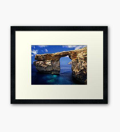 Azure Window Framed Print