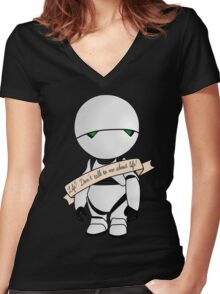 Life? Don't talk to me about life. Women's Fitted V-Neck T-Shirt