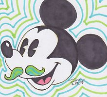 Mustache Mickey by nictheprincess