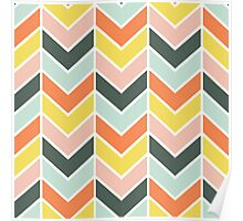 Cheerful Chevron Poster