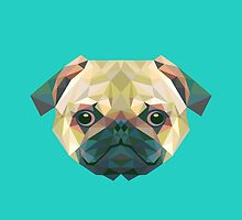 Geometric Pug by KingdomofArt