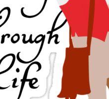 Dancing Through Life Sticker