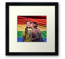 Marriage Equality rally in Honolulu .4 Framed Print