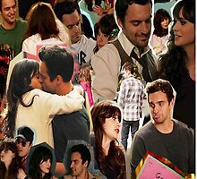 Nick Miller & Jess Day Collage Phone Case by CasanDean