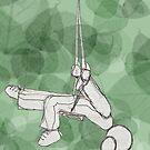 Swing Girl Swing : Green by Lisadee Lisa Defazio