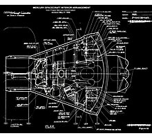 Project Mercury Drawings and Technical Diagrams mercury10032 Photographic Print