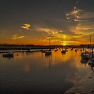 Sunset over the river by Mark Thompson