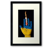 Ukraine: Fate is in your hand. Framed Print