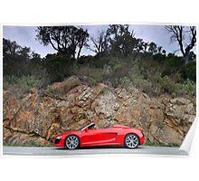The new Audi R8 V10 Spyder .... Poster