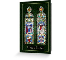 Thinking of you at Easter - The Resurrection In Stained Glass  Greeting Card