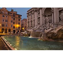 Rome's Fabulous Fountains - Trevi Fountain at Dawn Photographic Print