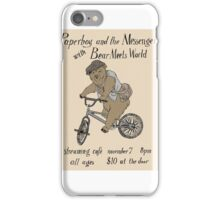 Paperboy and the Messengers with Bear Meets World iPhone Case/Skin