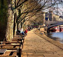 By The Riverside - York by Trevor Kersley