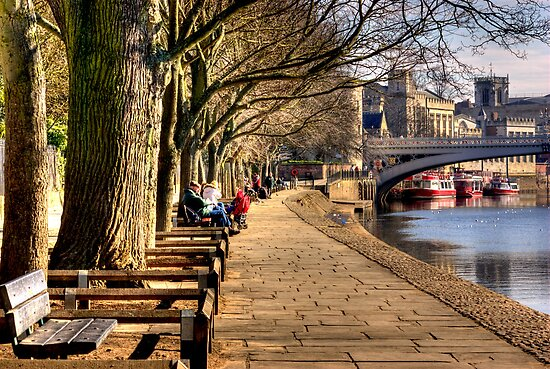 By The Riverside - York by Trevor Kersley